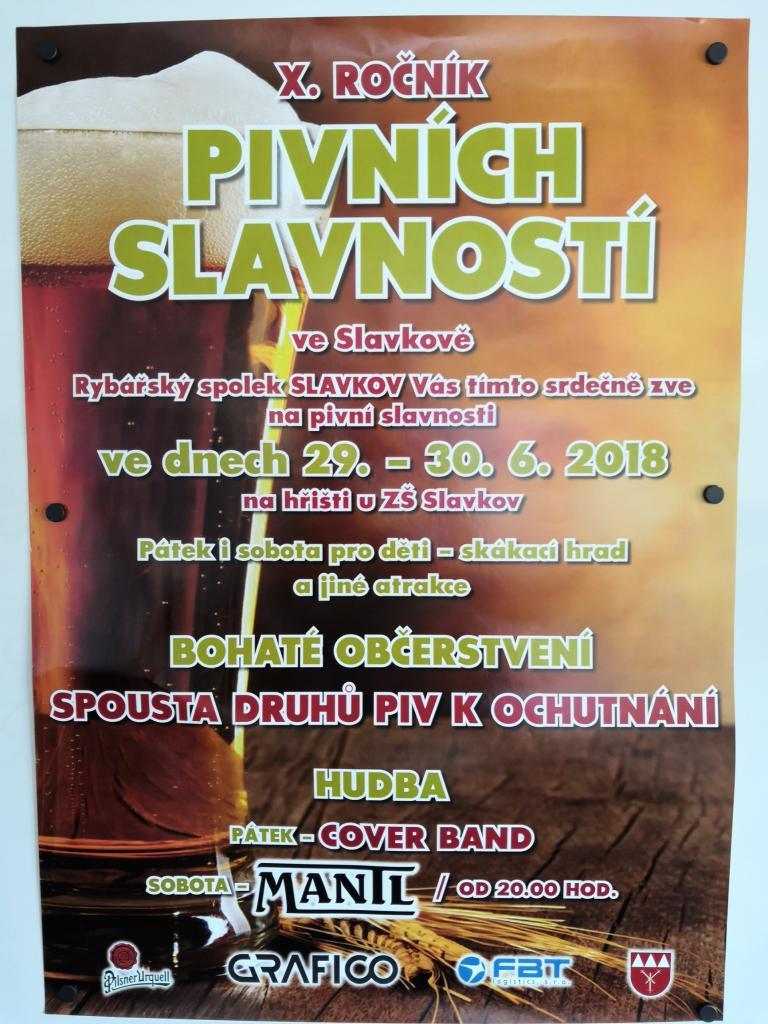 Plakát Pivní slavnosti Slavkov