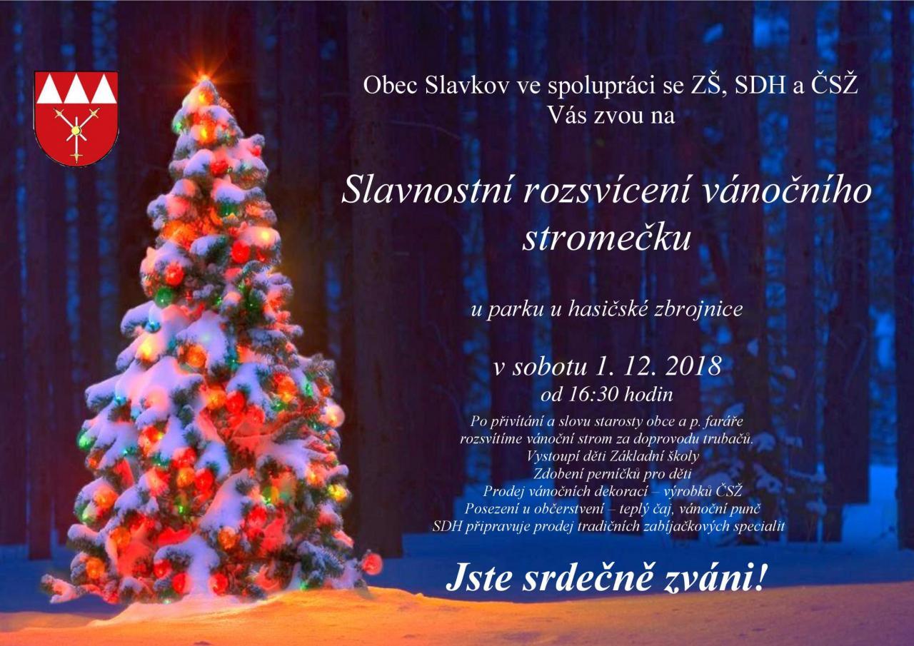 plakát rozsvícení stromečku