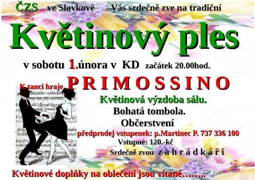 květinový ples plakát