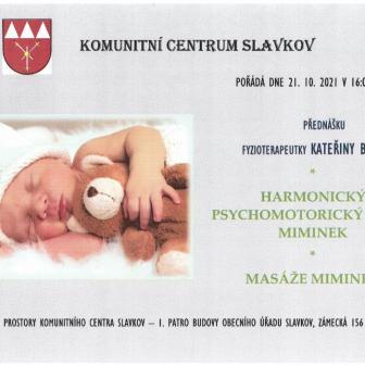 Harmonický psychomotorický vývoj miminek, masáže miminek
